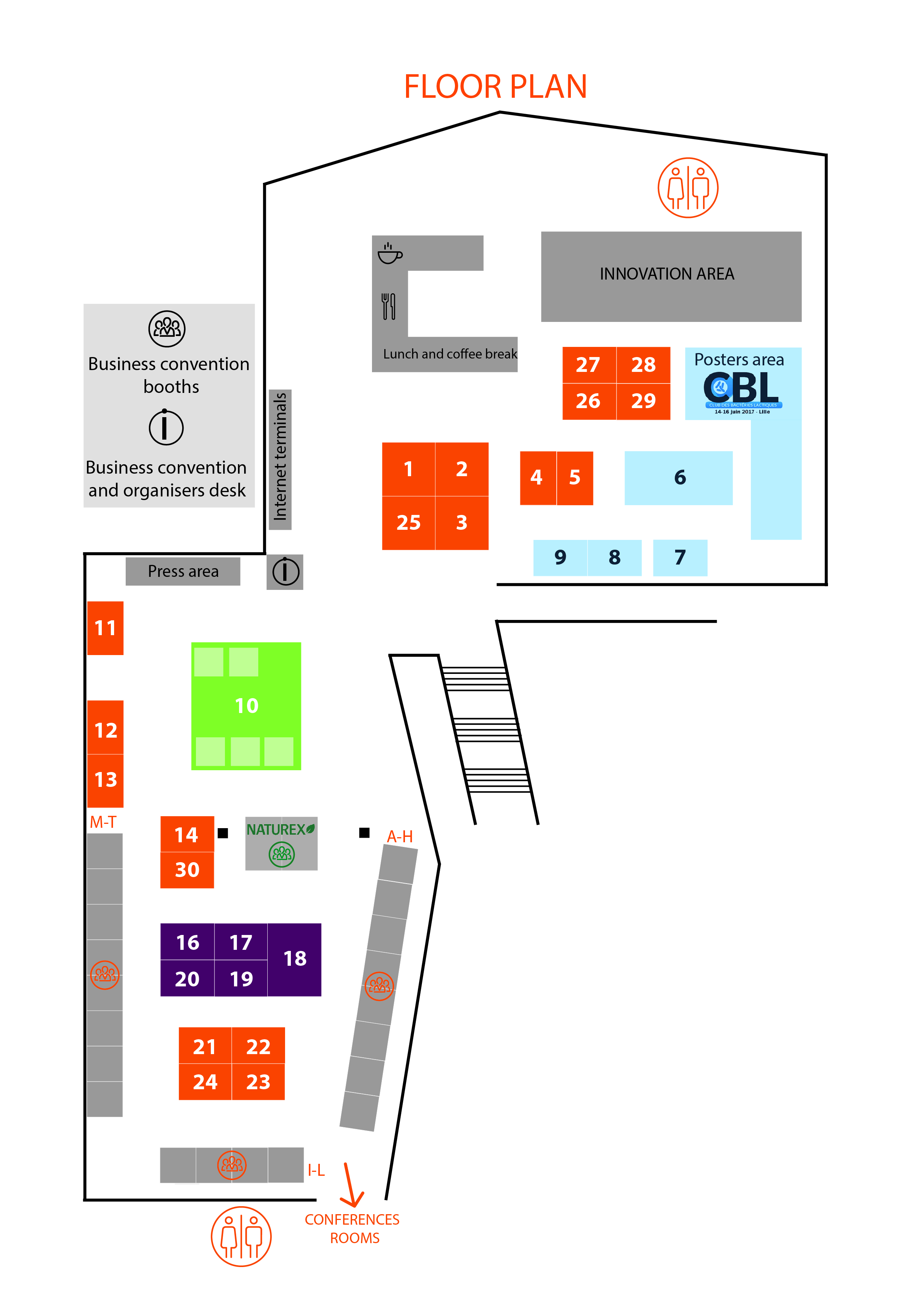 2017 Exhibitors and Exhibition plan | NutrEvent 2019
